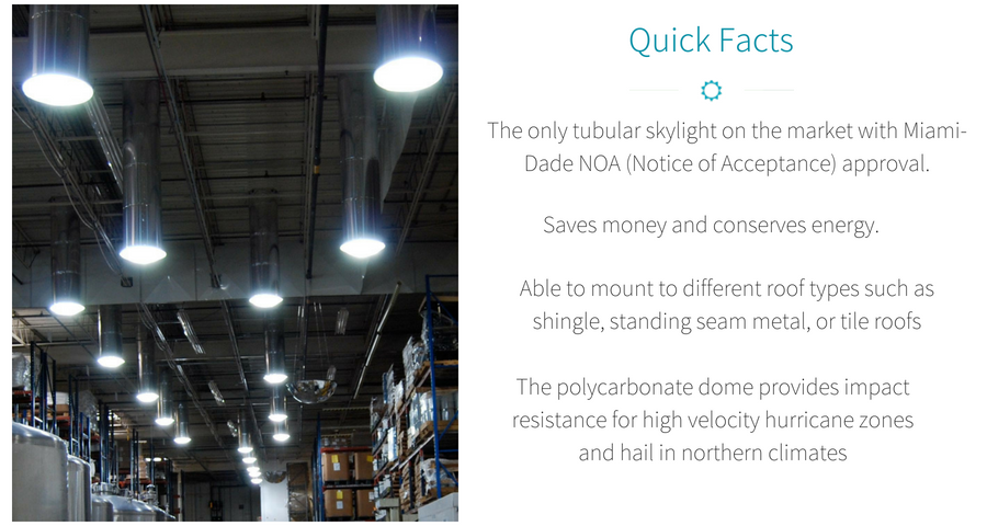 TAMPA TUBULAR DAYLIGHTING SYSTEMS